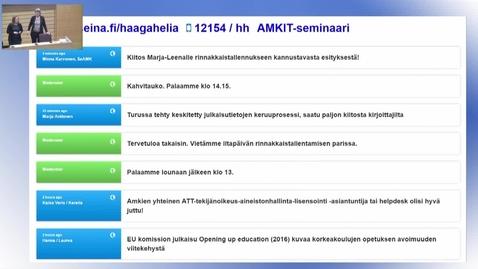 Thumbnail for entry Seminaaritallenne 20.4. iltapäivän esitykset