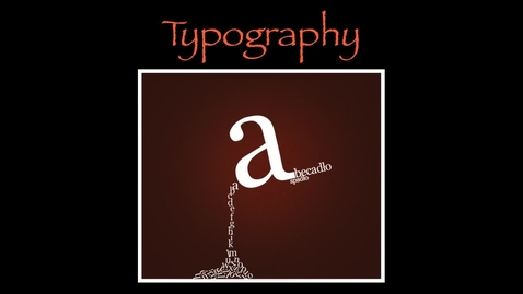 Thumbnail for entry Typografia