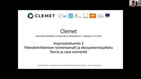 Thumbnail for entry Krista Keränen: Yhteiskehittämisen toimintamalli ja ekosysteemiajattelu