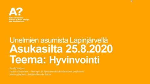 Thumbnail for entry Unelmien asumista Lapinjärvellä - hyvinvointi