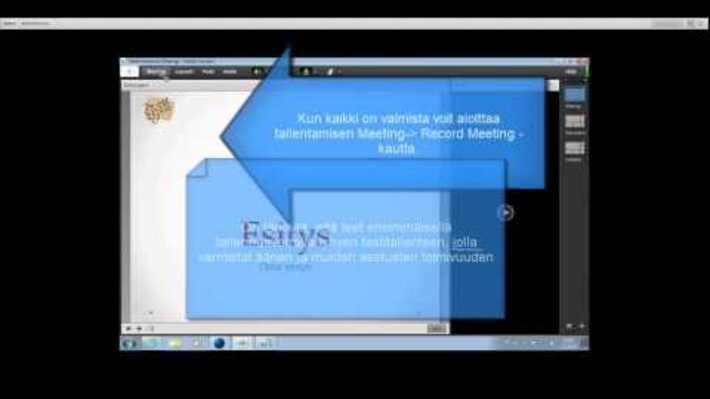 Etäluennon tallentaminen Funet Tiimi Adobe Connectilla