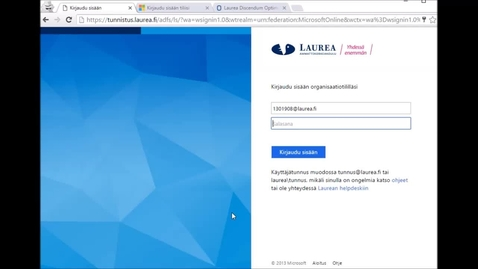 Thumbnail for entry Miten käyttäjätunnusta ja salasanaa käytetään palveluissa?