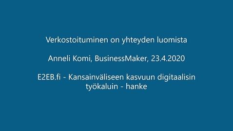 Thumbnail for entry E2EB_loppusemma_AnneliKomi
