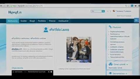 Thumbnail for entry Portfoliosivun katseluoikeudet Kyvyt.fi palvelussa
