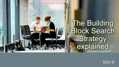 Thumbnail for entry Building block search