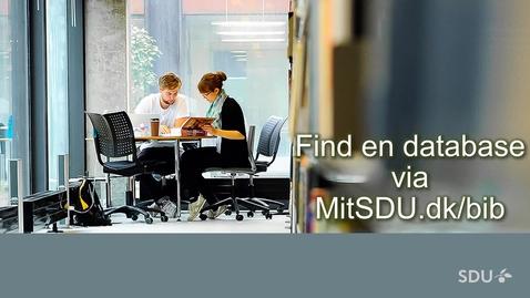 Thumbnail for entry Find en database