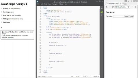 Thumbnail for entry JS Arrays 2
