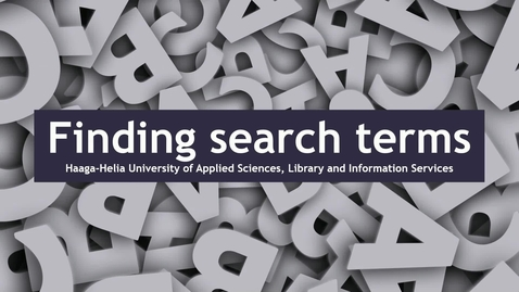 Finding search terms