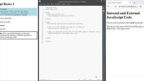 Thumbnail for entry JS Basics 1