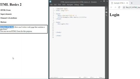 Thumbnail for entry HTML Basics 2
