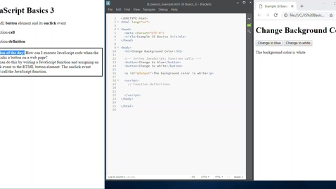 Thumbnail for entry JS Basics 3