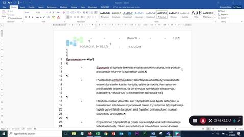 Thumbnail for entry Molempien reunojen tasaus & automaattitavutus