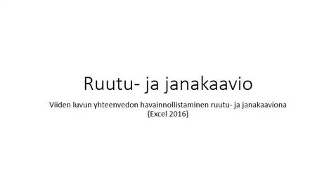 Thumbnail for entry Ruutu- ja janakaavio