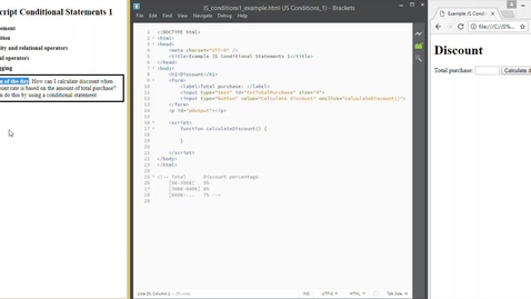 Thumbnail for entry JS Conditional statements 1