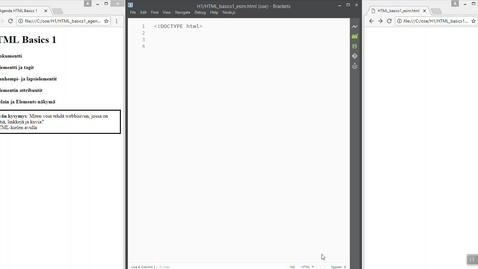 Thumbnail for entry 01 HTML Basics 1 (HTML-dokumentti)