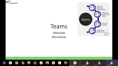 Thumbnail for entry Teams-tunti