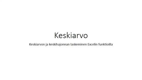 Thumbnail for entry Keskiarvo