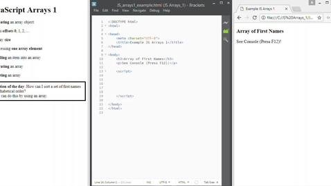 Thumbnail for entry JS Arrays 1