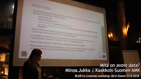 Thumbnail for entry Blue Minna Jukka Mitä on avoin data?  workshop 1 Järvi-Suomi 23.8.2018