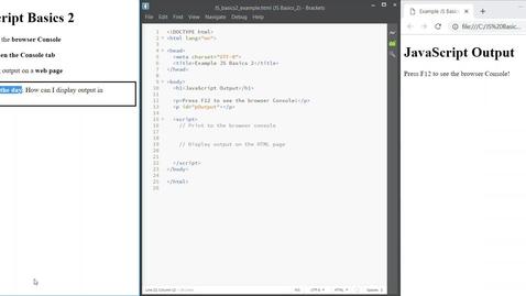 Thumbnail for entry JS Basics 2