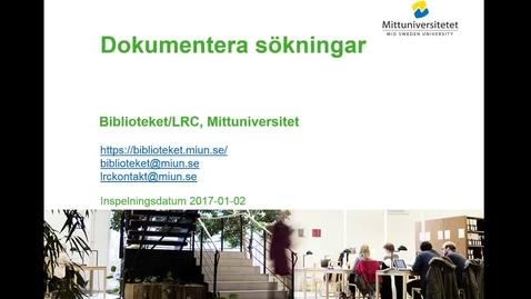 Thumbnail for entry Dokumentera sökningar