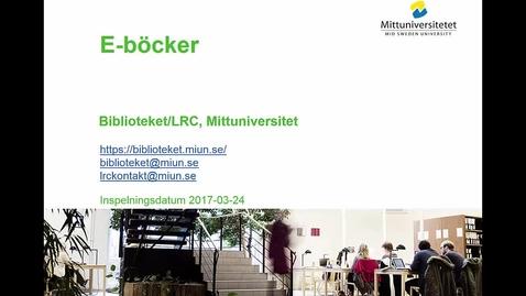 Thumbnail for entry E-böcker