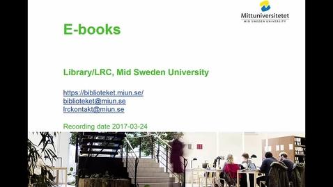 Thumbnail for entry E-books