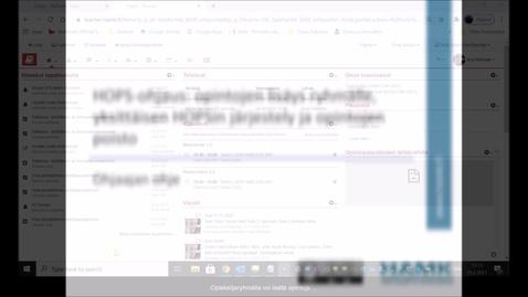 Thumbnail for entry HOPS-ohjaus: opintojen lisäys ryhmälle ja siihen liittyvät HOPS-muokkaukset