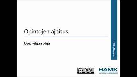 Thumbnail for entry Opiskelijan Pakki-ohjeet: Opintojen ajoitus