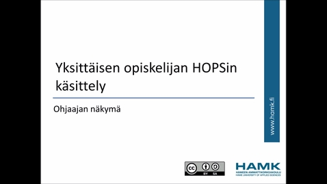 Thumbnail for entry Ohjaajan Peppi-ohjeet: Opiskelijan HOPSin käsittely