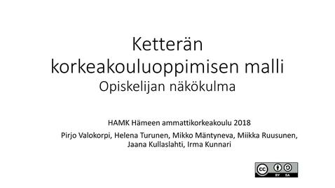 Thumbnail for entry Ketterä korkeakouluoppiminen opiskelijan näkökulmasta