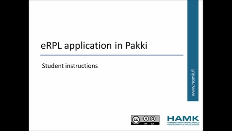 Thumbnail for entry Pakki Student Instructions: Work Experience to Credits (RPL)