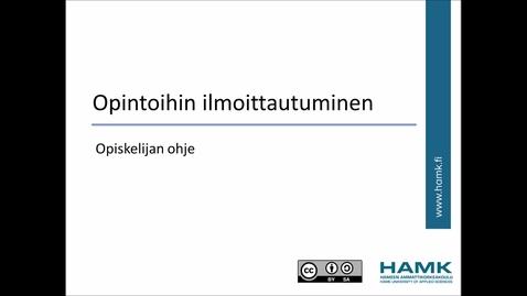 Thumbnail for entry Opiskelijan Pakki-ohjeet: Opinnoille ilmoittautuminen