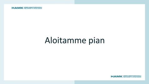 Thumbnail for entry HAMK Edu Stage & Lounge: HAMKin kestävän kehityksen tavoitteet 2030