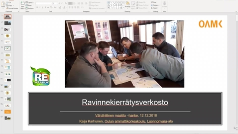 Thumbnail for entry Ravinnekierron uudet teknologiat, Ravinnekierrätysverkosto