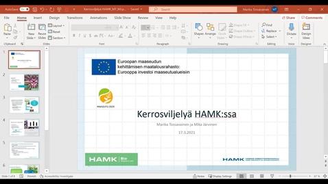 Thumbnail for entry ArvoLiike: Kerrosviljelyn toimijoiden verkostoitumistilaisuus 18.3.2021