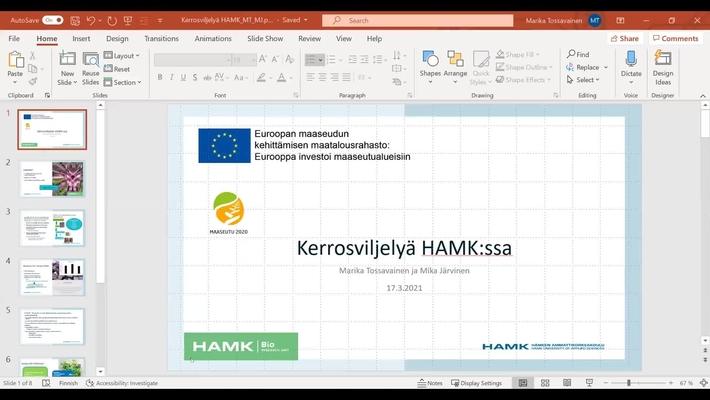 ArvoLiike: Kerrosviljelyn toimijoiden verkostoitumistilaisuus 18.3.2021