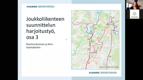 Thumbnail for entry Linjastosuunnittelun harjoitus, ohjeet osa 3
