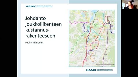 Thumbnail for entry Joukkoliikenteen kustannukset, luento 24.9.2020