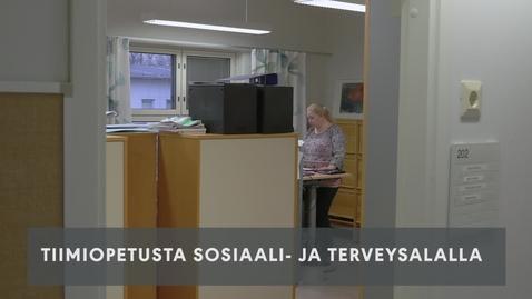 Thumbnail for entry Tiimiopetusta sosiaali- ja terveysalalla