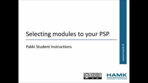 Thumbnail for entry Pakki Student Instructions: Selecting studies to your PSP