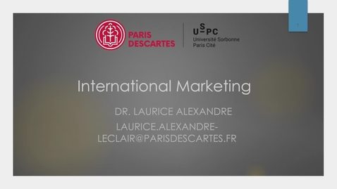 Thumbnail for entry Laurice Alexandre - How to adapt the Marketing strategy to the international environment