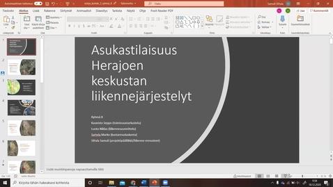 Thumbnail for entry Liikennesuunnitteluprosessi, esittelyt Riihimäki 18.12. klo 10-11