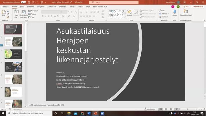 Liikennesuunnitteluprosessi, esittelyt Riihimäki 18.12. klo 10-11