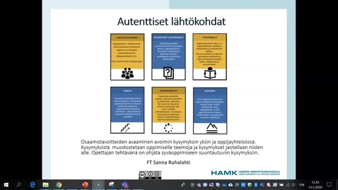 Thumbnail for entry Autenttiset lähtökohdat