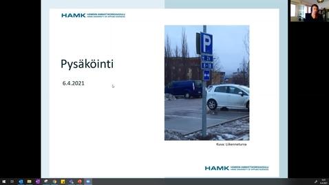 Thumbnail for entry Pysäköinti 6.4.2021/ Pauliina