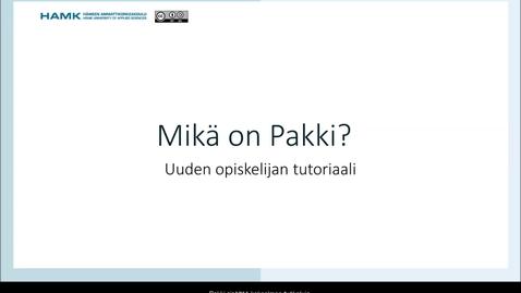 Thumbnail for entry Mikä on Pakki?