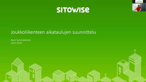 Thumbnail for entry Luento 10.9.2020 Joukkoliikenteen aikataulusuunnittelu/ Anni Suomalainen