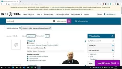 Thumbnail for entry PubMedin käytön ohjevideo