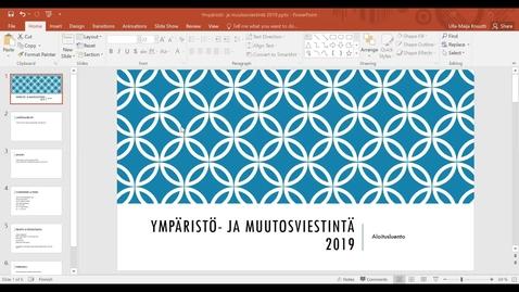 Thumbnail for entry Viestinnän moduulin johdatusluento